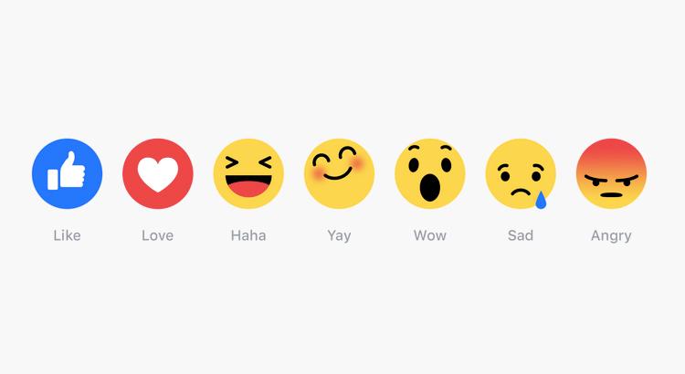 Facebook cria 'Reactions', emojis que vão além do 'curtir'