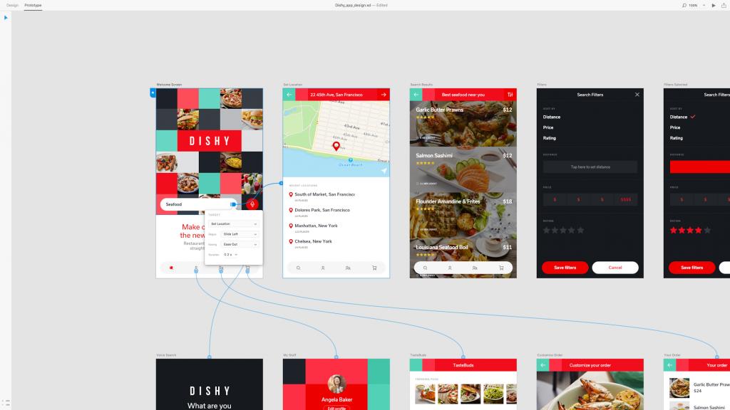 Adobe Experience Design permite que os designers se concentrar na interação e não apenas de layout.