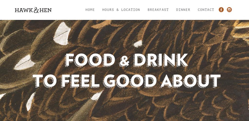 Tipografia tem a oportunidade de mostrar a identidade da marca e melhora o conteúdo do texto. Сredits: Hawk & Hen
