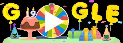 O Google faz 19 anos e oferece uma roda com 19 surpresas!